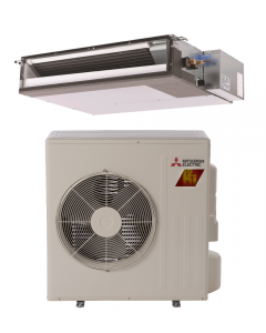 9,000 BTU 17.3 SEER Concealed Duct Mitsubishi Mini-Split Single Zone H2i Hyper Heat Heat Pump - SEZ-KA09NAHZ