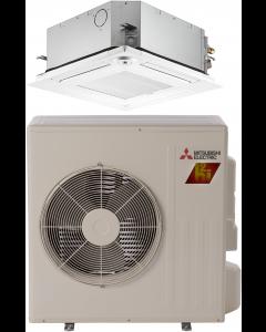 18,000 BTU 19 SEER Ceiling Cassette Mitsubishi Mini-Split Single Zone H2i Hyper Heat Heat Pump - SZ-KF18NAHZ