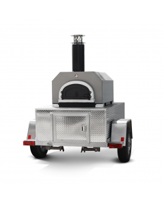 Chicago Brick Oven-750 Dual Fuel Commercial With Stand - CBO-O-STD-750-HYB-Commercial