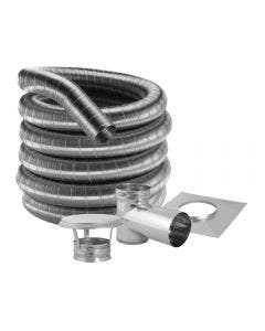 Duravent 8-Inch 304 Stainless Steel Chimney Liner Kit For Freestanding Stoves With Tee- 8DF304KT