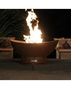 Fire Pit Art Gas Fire Pit - Scallops