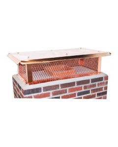 Ventis Copper Multi-Flue Chimney Cap With Flat Lid And 10-Inch Mesh Height - MFFLCP10