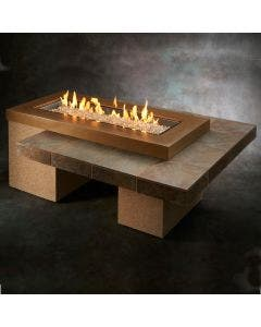 The Outdoor Greatroom Brown Uptown Gas Fire Pit Table - UPT-1242-BRN