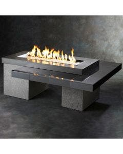 The Outdoor Greatroom Black Uptown Gas Fire Pit Table - UPT-1242