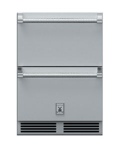 Hestan 24-Inch 5.2 Cu. Ft. Outdoor Rated Refrigerator and Freezer Drawer with Lock - GRFR24