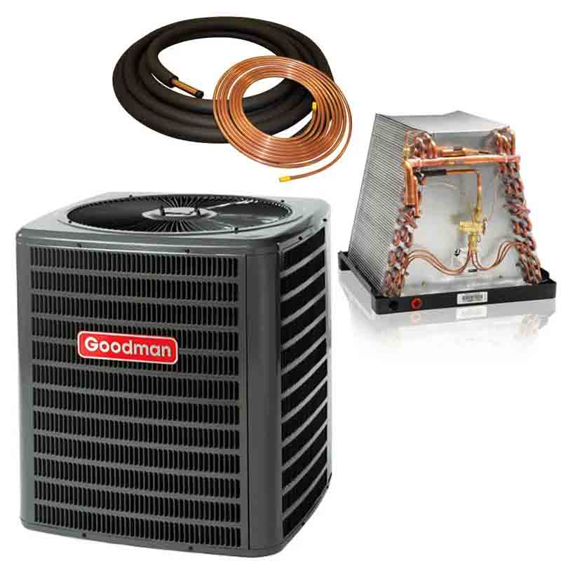 Goodman 3 Ton 14 SEER Mobile Home Air Conditioner with ADP Coil GSX140361 / M36E321