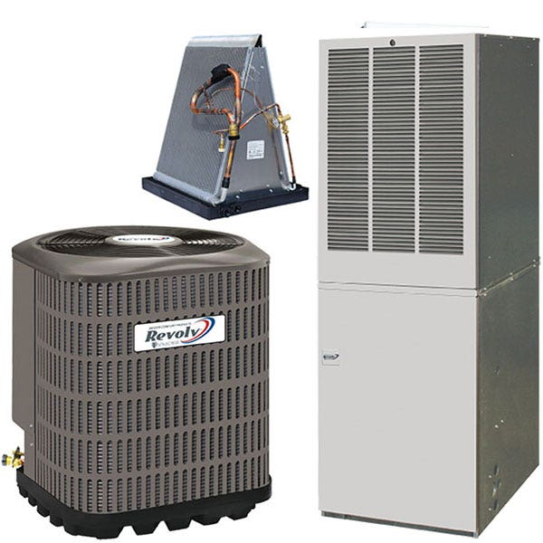 Revolv4 Ton 13 SEER 15KW Mobile Home Air Conditioner & Electric Furnace With AccuCharge Quick Connect RSCQ483 / 187848M4A / RE9D15C4